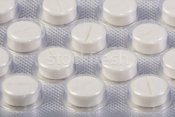 Blister pack with white tablets Stock photo © manfredxy
