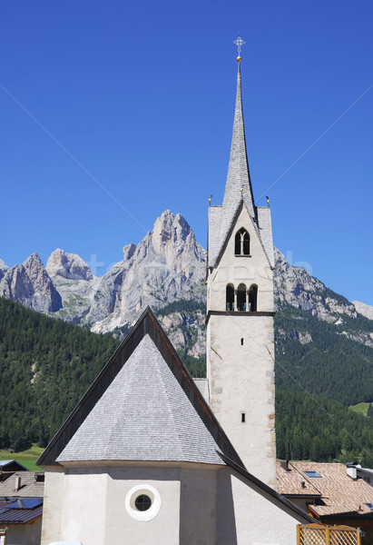 Alpine église ciel architecture tour religion Photo stock © manfredxy