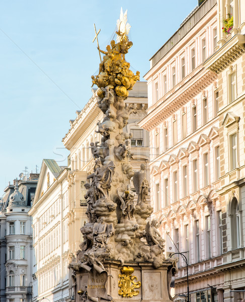 Baroque Plague column in Vienna Stock photo © manfredxy