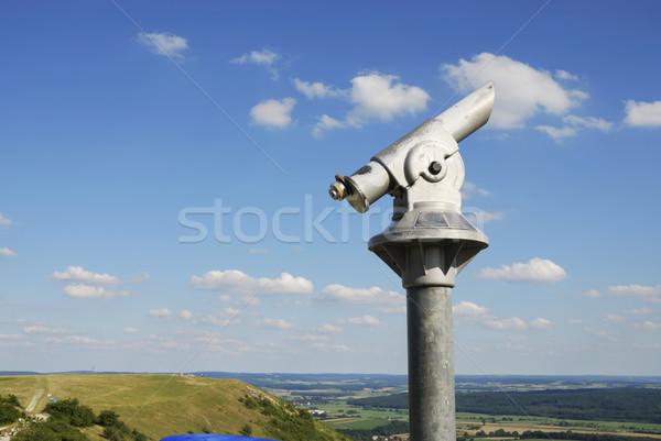 Munt telescoop top heuvel Stockfoto © manfredxy