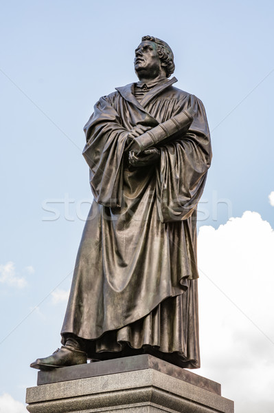 Bronce Statue of Martin Luther Stock photo © manfredxy