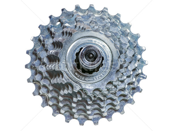 Isolated sprocket wheel of a bike Stock photo © manfredxy