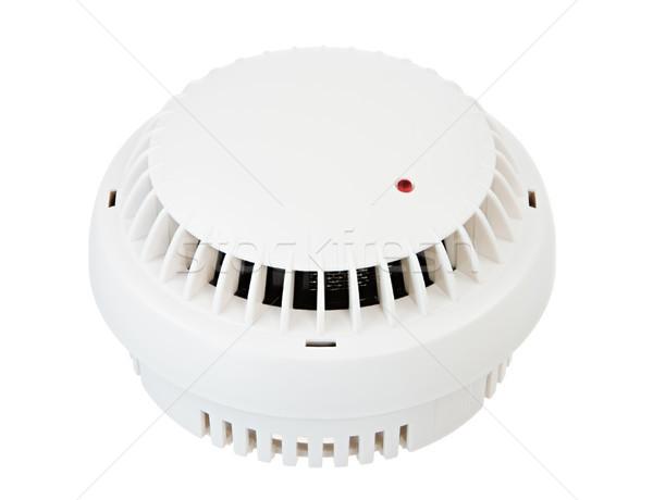 Izolált fehér füst detektor tűz biztonság Stock fotó © manfredxy