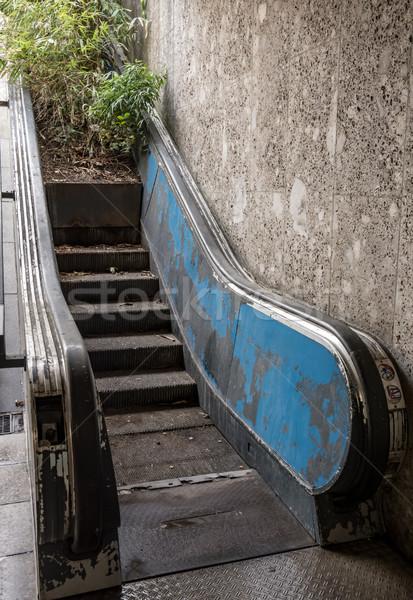 заброшенный движущихся лестницы потеряли место Сток-фото © manfredxy