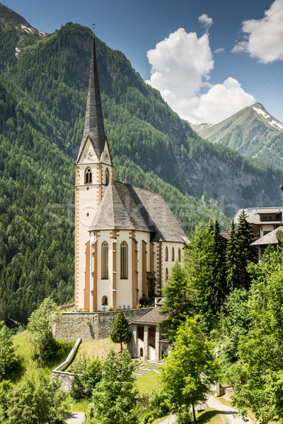 Church in Heiligenblut Stock photo © manfredxy