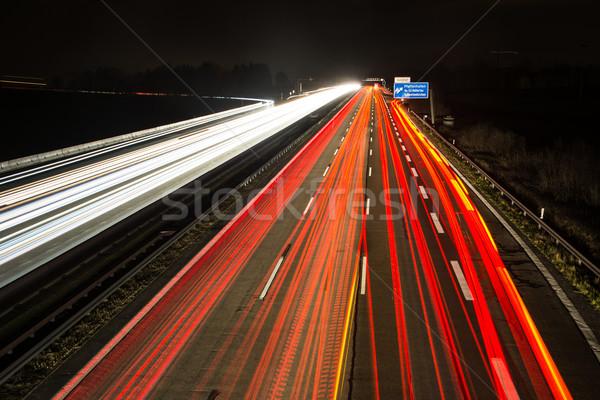 Luz carretera autopista salida carretera calle Foto stock © manfredxy
