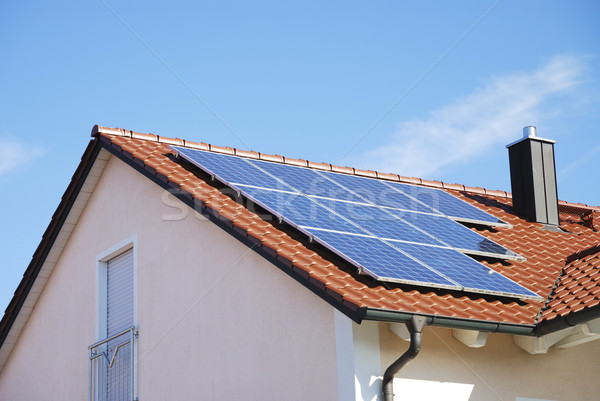 Roof With Photovoltaic System  Stock photo © manfredxy