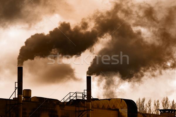 Industriali rivoluzione buio fumo vecchio fabbrica Foto d'archivio © manfredxy