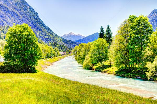реке Альпы воды горные гор туризма Сток-фото © manfredxy
