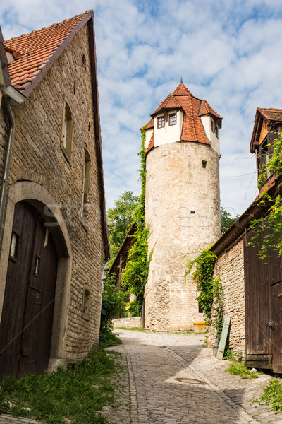 Middeleeuwse defensie toren hoofd- Stockfoto © manfredxy