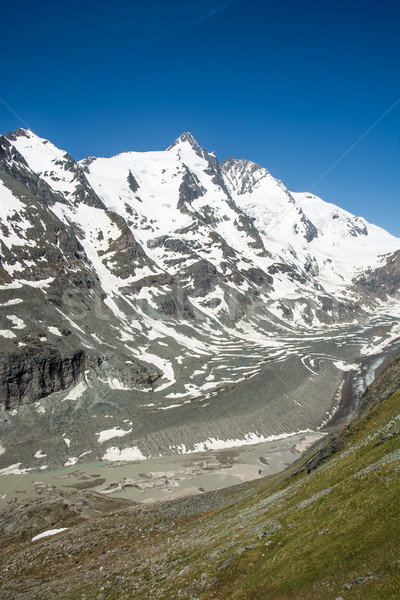 Gleccser Alpok Ausztria csoport hegyek tavasz Stock fotó © manfredxy