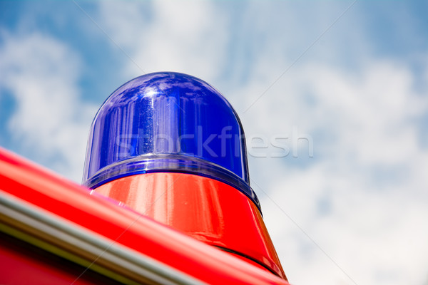 Blue light of a fire truck oldtimer Stock photo © manfredxy