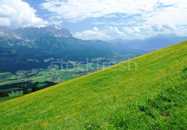 Foto stock: Alpes · Áustria · montanha · paisagem · região · verão