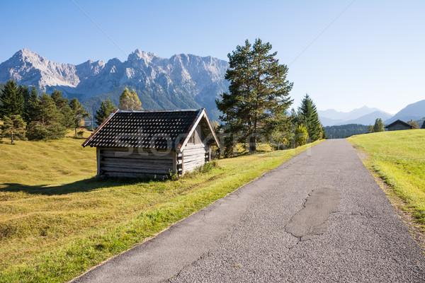 Alpesi csőr hegyek erdő hegy ősz Stock fotó © manfredxy