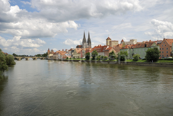 Regensburg riverside Stock photo © manfredxy