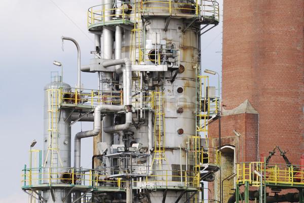 Olajfinomító elhagyatott ipari technológia fém ipar Stock fotó © manfredxy