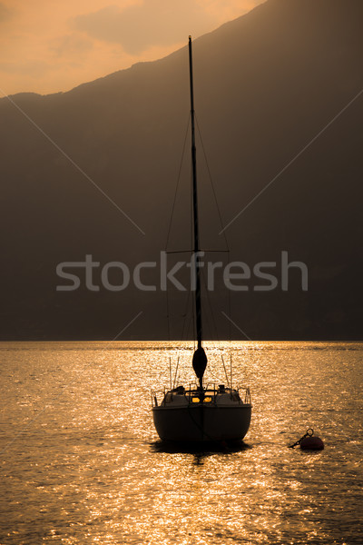 Sailing Boat in the sunset Stock photo © manfredxy