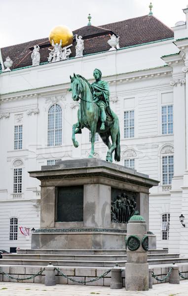 Lovas szobor Bécs császár épület építészet Stock fotó © manfredxy