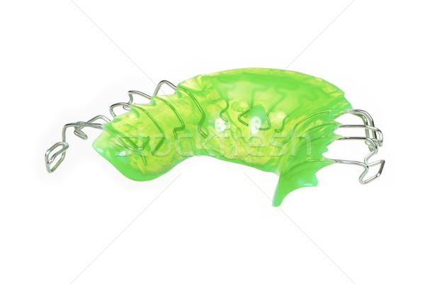歯科 ブレース マクロ 孤立した プラスチック オブジェクト ストックフォト © manfredxy