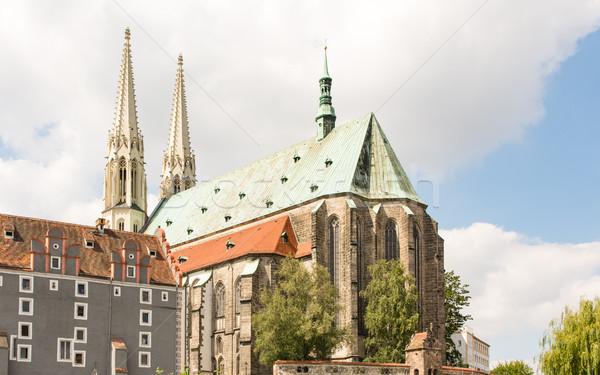 Stockfoto: Kerk · gebouw · architectuur · Europa · toren · mijlpaal