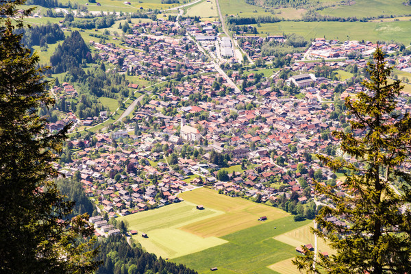 Aerial view over the village of Oberammergau Stock photo © manfredxy