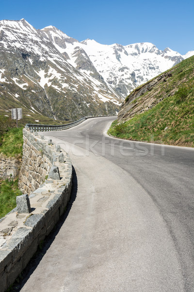 High Alpine Road Stock photo © manfredxy