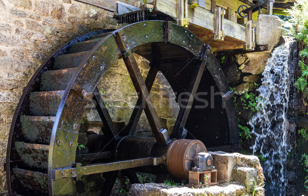Vintage wooden water wheel Stock photo © manfredxy