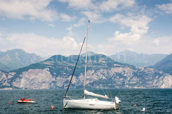Sailing Boat at Lake Garda Stock photo © manfredxy