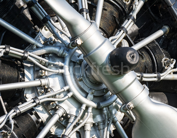 Propeller of an old historic aircraft Stock photo © manfredxy