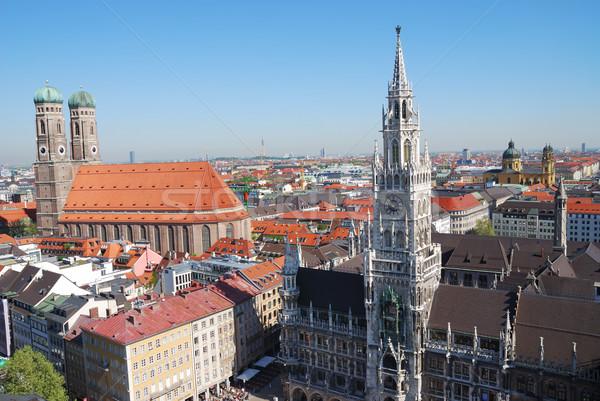 Munich ciudad casa iglesia cielo edificios Foto stock © manfredxy