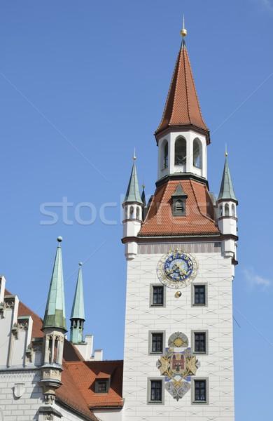 München városháza óváros előcsarnok Európa Németország Stock fotó © manfredxy