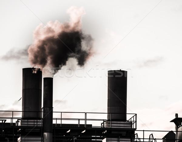 Industrielle révolution vieux air sombre Photo stock © manfredxy