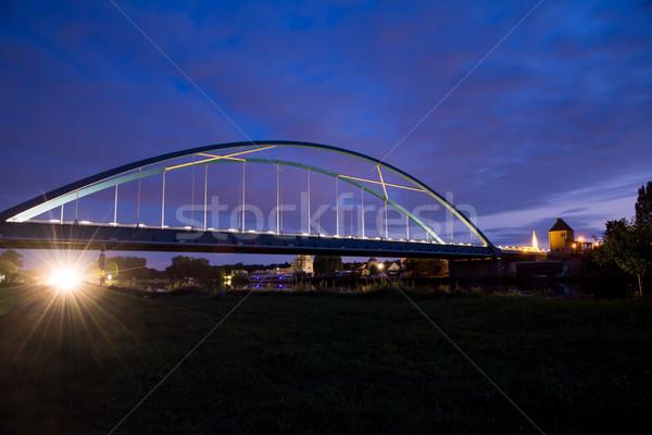 моста ночь реке основной воды Сток-фото © manfredxy