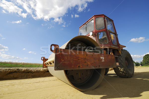 Road roller Stock photo © manfredxy