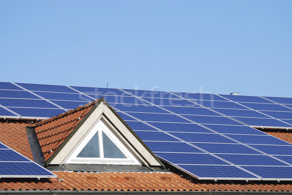 Alternative Energy with Solar Panels Stock photo © manfredxy