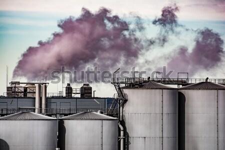 Industrielle révolution air pollution technologie fumée Photo stock © manfredxy