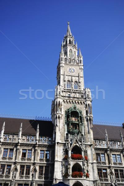 Мюнхен город зале архитектура Европа башни Сток-фото © manfredxy