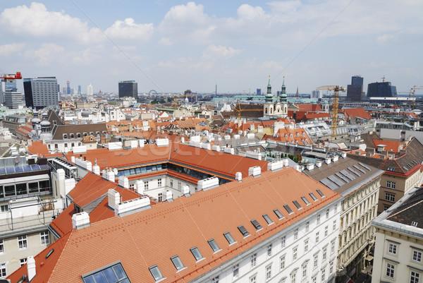 Wiedeń panoramę widoku miasta Austria domu Zdjęcia stock © manfredxy