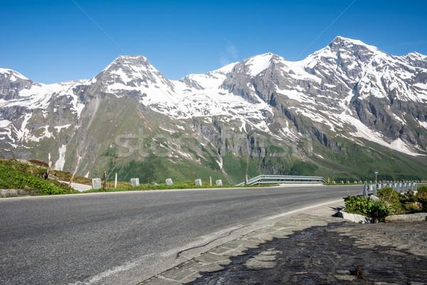 Alto alpino estrada montanha Áustria Foto stock © manfredxy