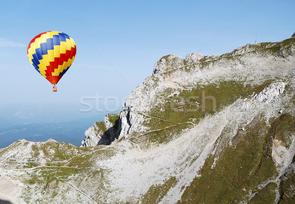 Hot air balloon in the alps Stock photo © manfredxy