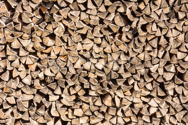 Tűzifa köteg minta fa fából készült Stock fotó © manfredxy