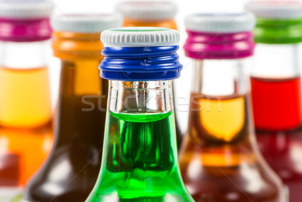 Geïsoleerd likeur flessen partij dranken Stockfoto © manfredxy