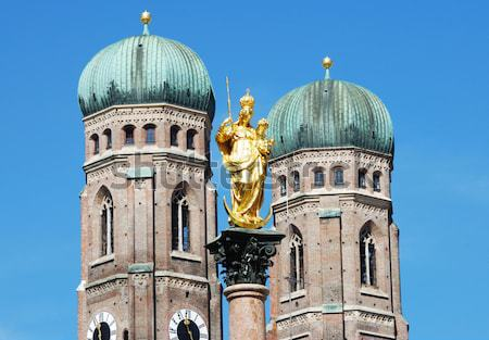 Coluna catedral Munique viajar arquitetura europa Foto stock © manfredxy