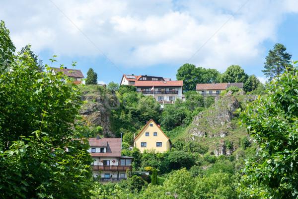 村 スイス ドイツ 建物 風景 山 ストックフォト © manfredxy