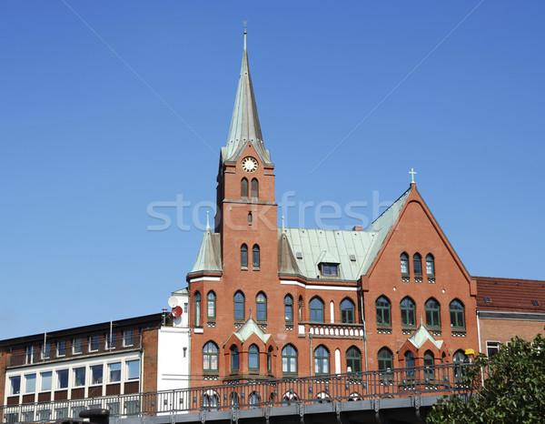 ハンブルク 教会 市 空 建物 ストックフォト © manfredxy