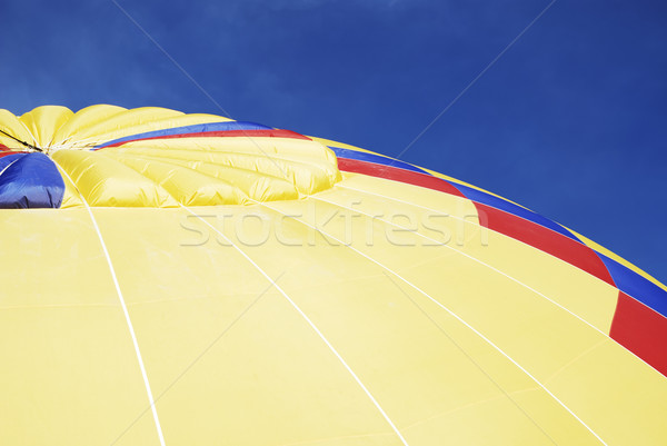 Luchtballon detail leuk ballon Geel recreatie Stockfoto © manfredxy