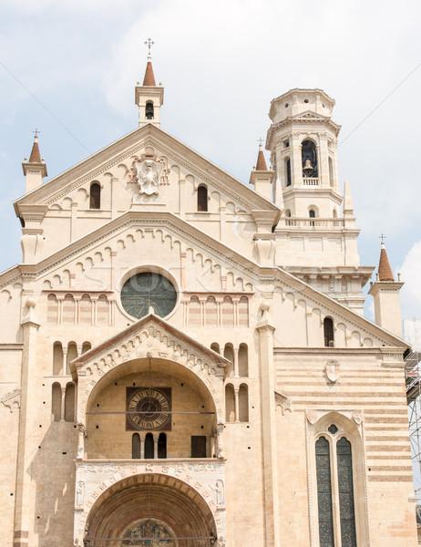 Verona catedral edifício arquitetura religião Foto stock © manfredxy
