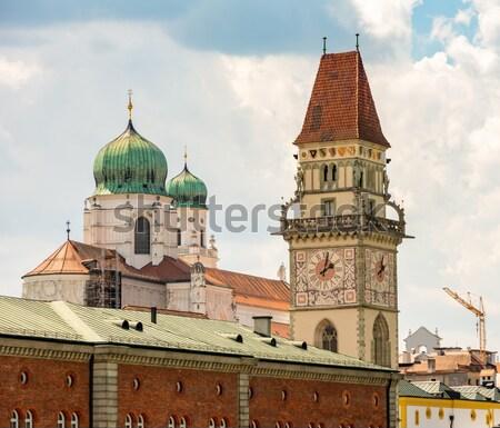 Historic Towers of Passau Stock photo © manfredxy