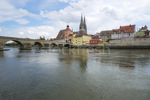 Medieval town Regensburg Stock photo © manfredxy