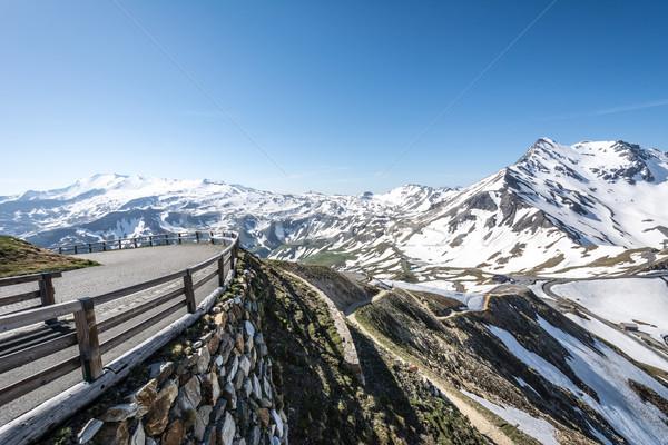High Alpine Road Stock photo © manfredxy
